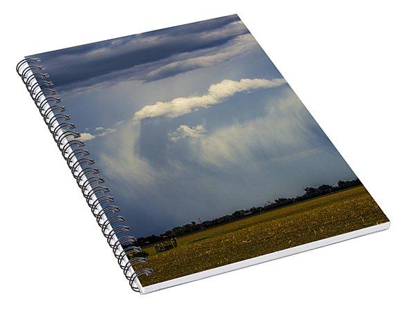 Afternoon Nebraska Thunderstorm Spiral Notebook