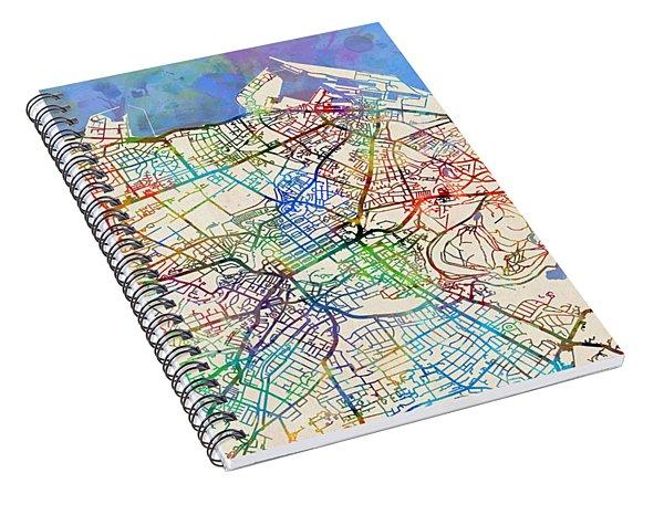Edinburgh Street Map Spiral Notebook
