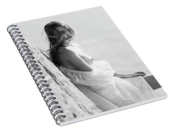 Girl In White Dress Spiral Notebook
