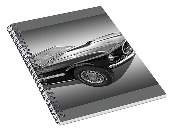 69 Mach1 In Black And White Spiral Notebook