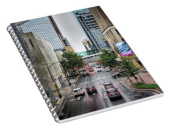 Spiral Notebook featuring the photograph Charlotte North Carolina Views Around  Downtown by Alex Grichenko