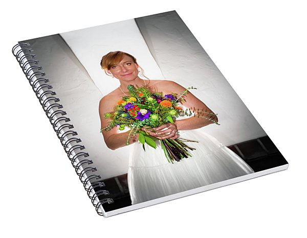 A Beautiful Backlit Bride And Her Bouquet Spiral Notebook
