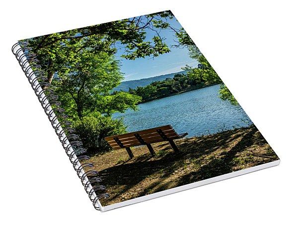 A Bench Overlooking Vasona Lake Spiral Notebook