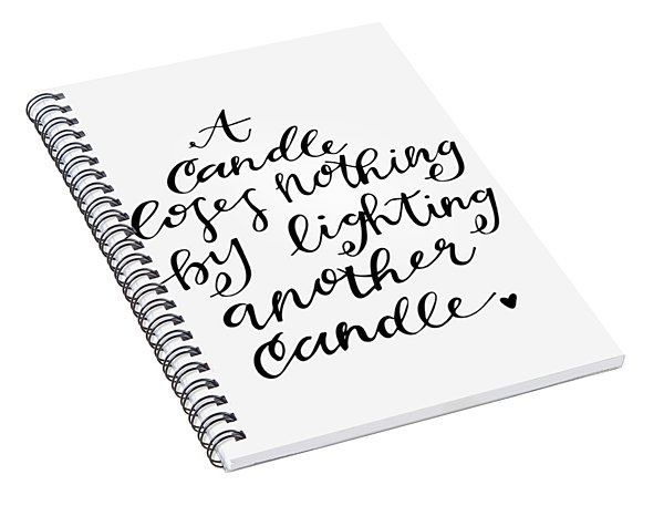 A Candle Spiral Notebook