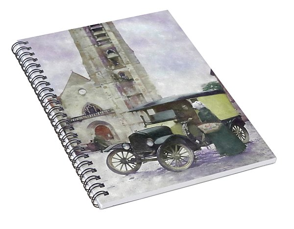 A Chat By The Cathedral Spiral Notebook