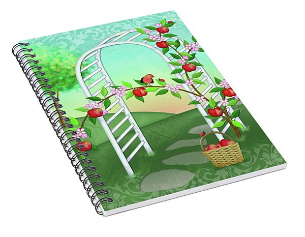 A Is For Arbor And Apples Spiral Notebook