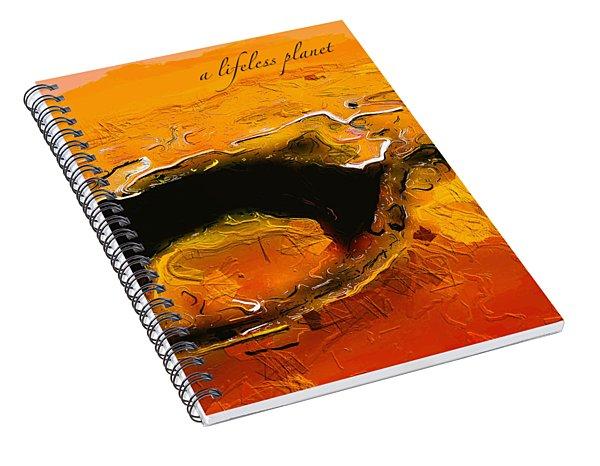 A Lifeless Planet Orange Spiral Notebook