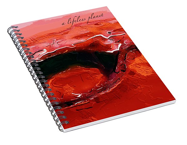 A Lifeless Planet Red Spiral Notebook