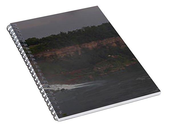 A Panoramic View Of Niagara Falls Spiral Notebook