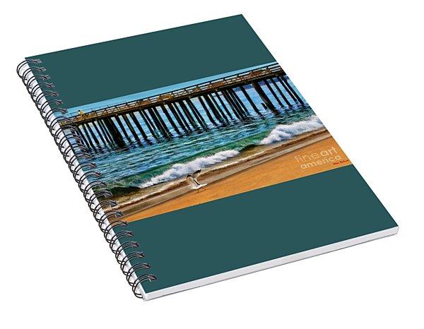 A Seagull Run Sea Cliff State Beach Spiral Notebook