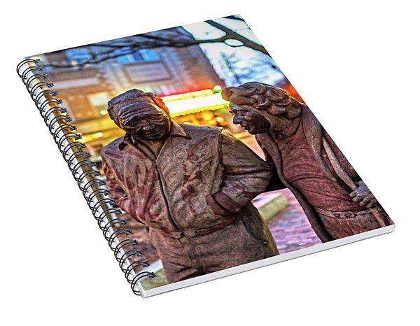 A Stroll Through Davis Square Somerville Ma Spiral Notebook
