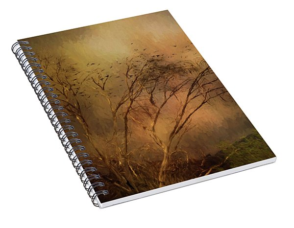 Spiral Notebook featuring the digital art A Touch Of Autumn by Nicole Wilde