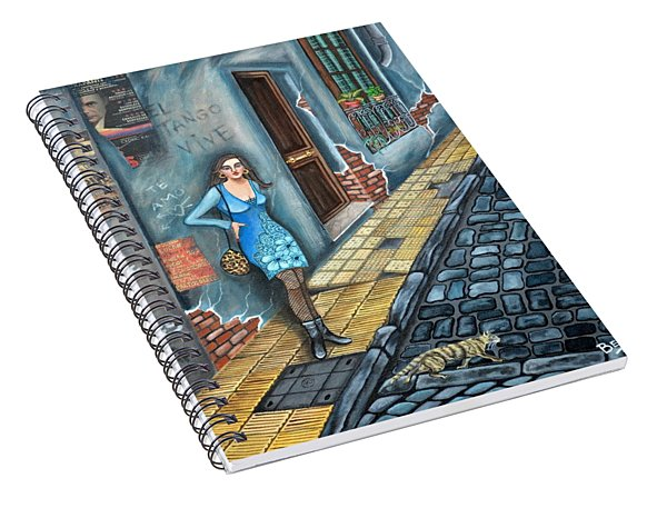 A Woman In Buenos Aires II Spiral Notebook