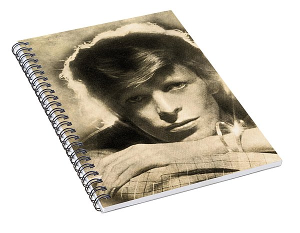 A Young David Bowie Spiral Notebook