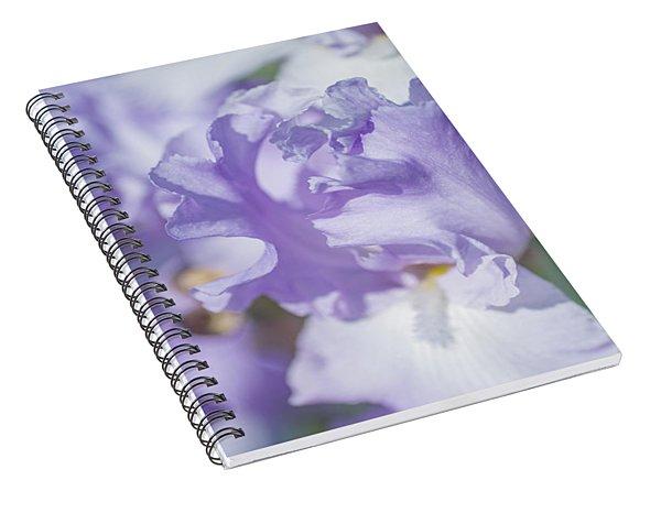 Absolute Treasure Closeup. The Beauty Of Irises Spiral Notebook