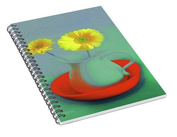 Abstract Floral Art 301 Spiral Notebook