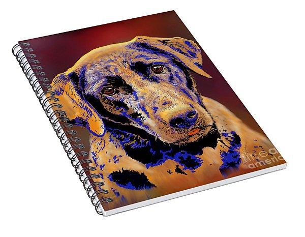 Abstract Golden Labrador Retriever Painting Spiral Notebook