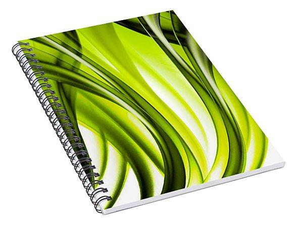 Abstract Green Grass Look Spiral Notebook