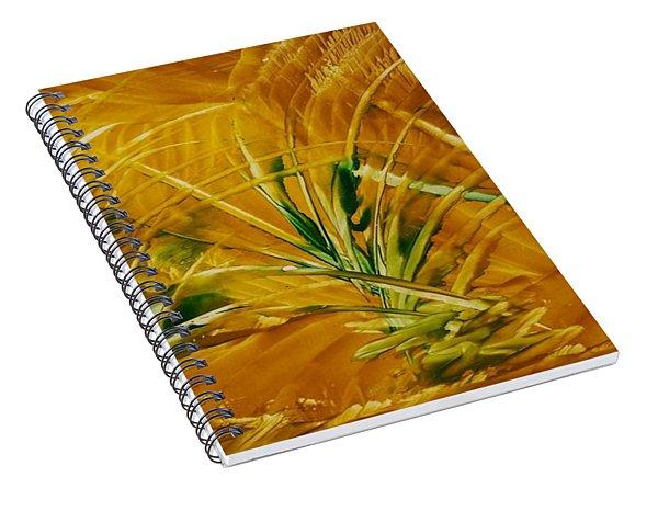 Abstract Yellow, Green Fields   Spiral Notebook