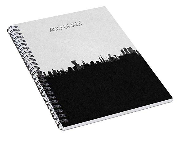 Abu Dhabi Cityscape Art Spiral Notebook