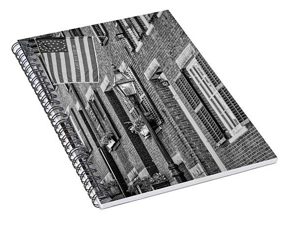 Acorn Street Details Bw Spiral Notebook