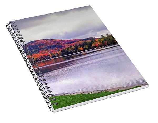 Adirondack Chairs In The Adirondacks. Mirror Lake Lake Placid Ny New York Mountain Spiral Notebook