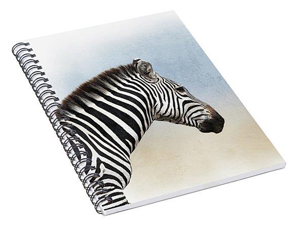 African Zebra Closeup Square Spiral Notebook