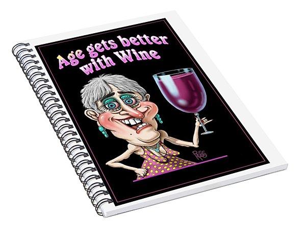 Age Gets Better Woman Spiral Notebook