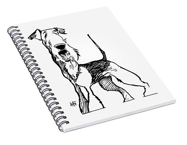 Airedale Terrier Gesture Sketch Spiral Notebook