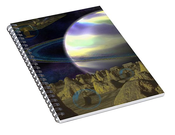 Alien Repose Spiral Notebook