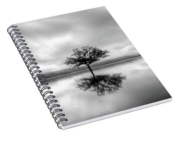 Alone Bw Spiral Notebook