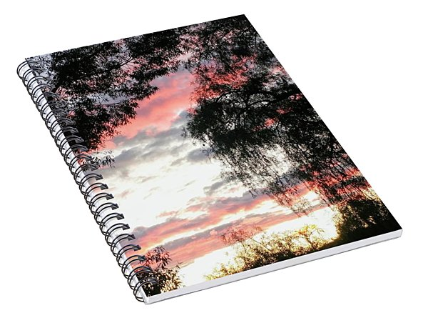 Amazing Clouds Black Trees Spiral Notebook