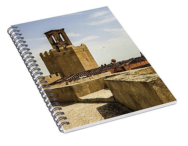 Ancient Moorish Citadel In Badajoz, Spain Spiral Notebook
