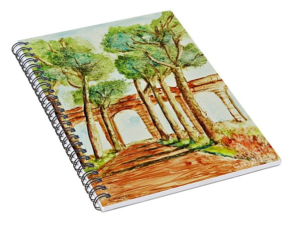Ancient Roman Aqueduct Spiral Notebook