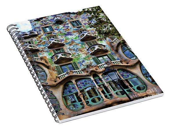Antoni Gaudi's Casa Batllo Barcelona Spain  Spiral Notebook