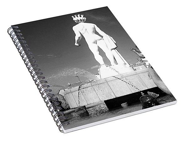 Apollo At Fontaine Du Soleil, Nizza, France Spiral Notebook