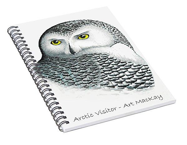 Arctic Visitor Spiral Notebook