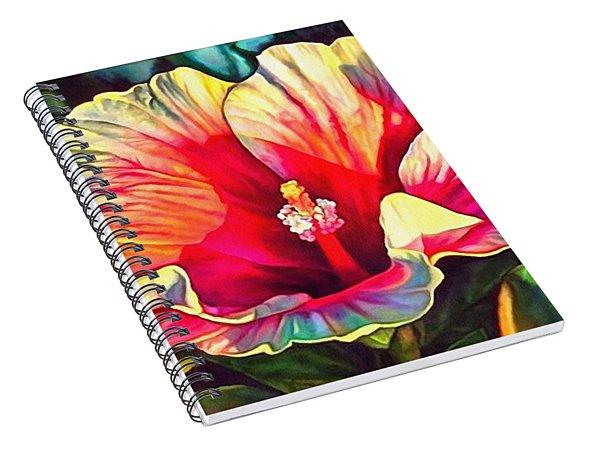 Art Floral Interior Design On Canvas Spiral Notebook