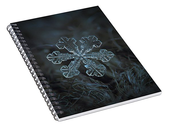 Snowflake Photo - Vega Spiral Notebook