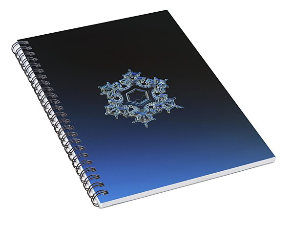 Snowflake Photo - Spark Spiral Notebook