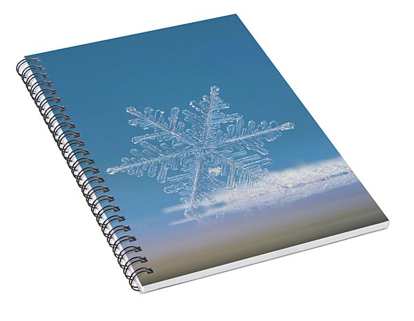 Snowflake Photo - Cloud Number Nine Spiral Notebook