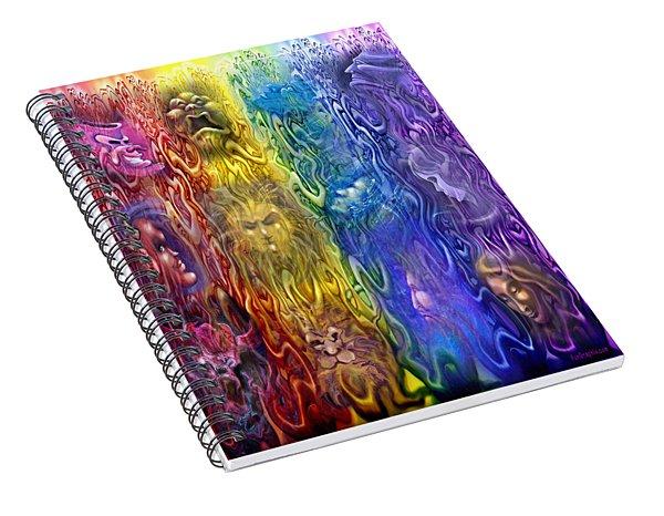 Interwoven Spectrum Of Emotions Spiral Notebook