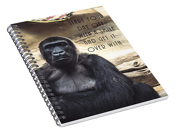 Start Your Day Off With A Smile Spiral Notebook