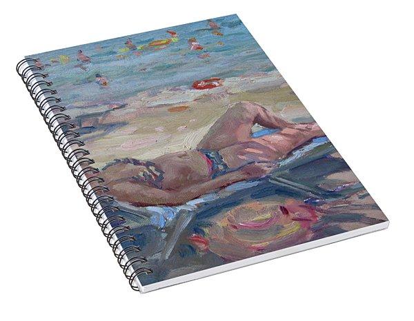 At Dilesi Beach Athens Spiral Notebook