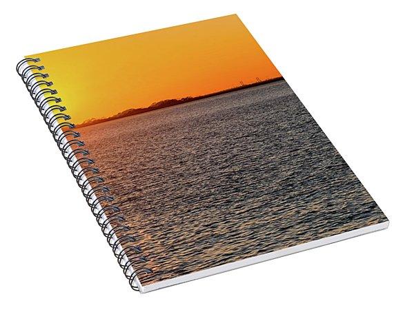 atlantic, autumn, background, beach, beautiful, Calibogue, Carolina, coast, coastal, coastline, day, Spiral Notebook