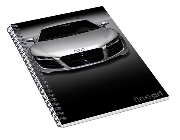 Audi R8 Sports Car Spiral Notebook