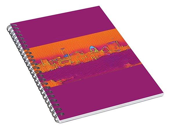 Austin Skyline Electric Spiral Notebook