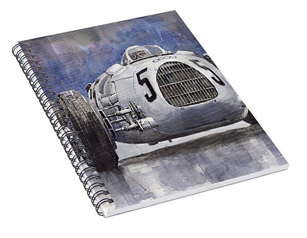 Auto-union Type C 1936 Spiral Notebook