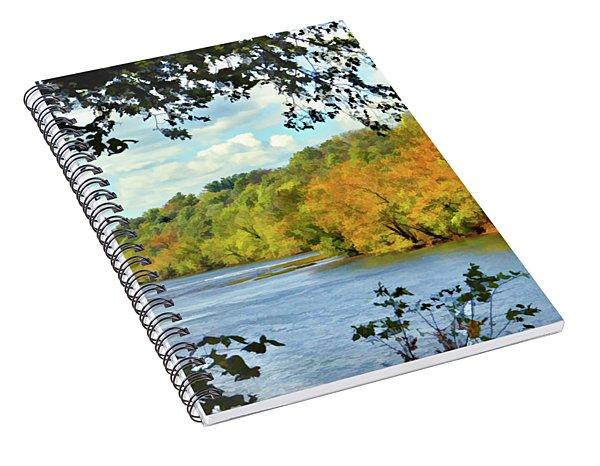 Autumn Along The New River - Bisset Park - Radford Virginia Spiral Notebook