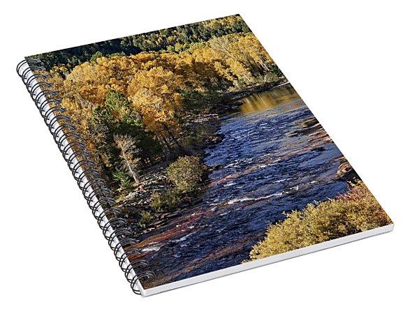 Autumn Along The River II Spiral Notebook